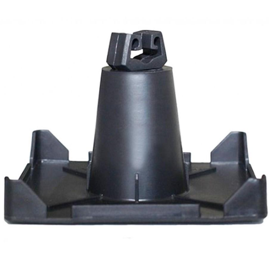 Держатель на плоскую крышу для токоотвода D8 мм для приклеивания, пластик