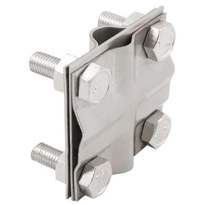 Зажим крестообразный для подключения проводника D17; пол. 40мм, кр. 78мм2; нержавеющая сталь