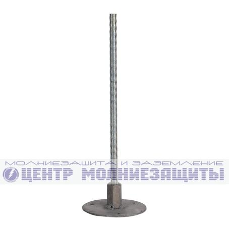 Фиксированная точка заземления проходная L=100мм, оцинкованная сталь