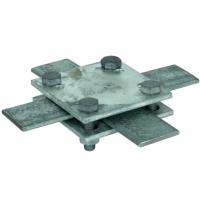 Крестообразный соединитель для надземного и подземного монтажа без промежут. пластины Fl=30-40/30-40 мм St/tZn