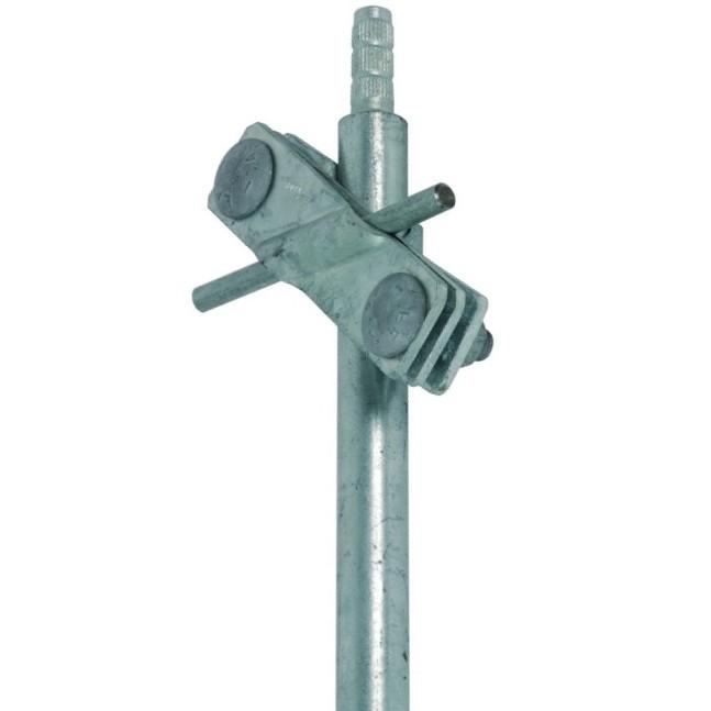 Соединительный зажим для вертикальных электродов, для неразрезанных заземл. проводников St/tZn, D=20 мм