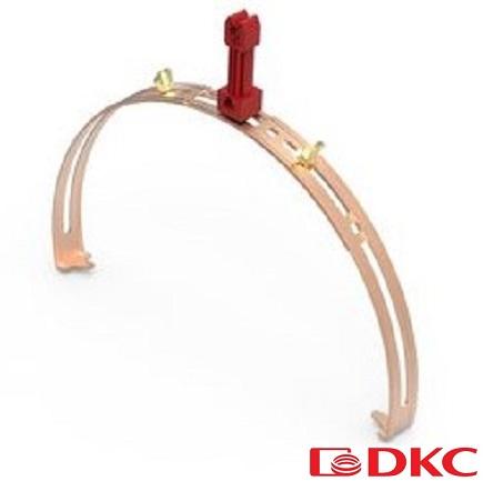 Зажим коньковый регулируемый с пластиковым держателем медь ND2204CU