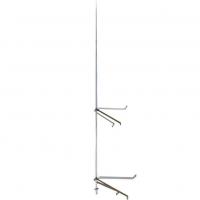 ZANDZ ZZ-201-008-3 Молниеприёмник-мачта вертикальный 8 м с комплектом из 2х креплений к стене (нерж. сталь)