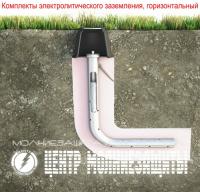 Комплект электролитического заземления CMZ-3 метра горизонтальный