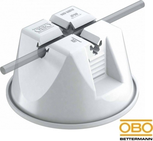 Универсальный держатель круглых проводников диаметром 8-10 мм для плоской кровли серый 165 MBG-8-10 GR