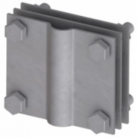Соединитель стержень/полоса, 80х70 мм, INOX DKC NG3116INOX